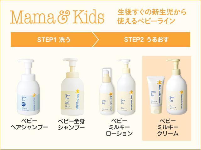 ママ&キッズ 生後すぐの新生児から使えるベビーライン STEP2 うるおす ベビーミルキークリーム